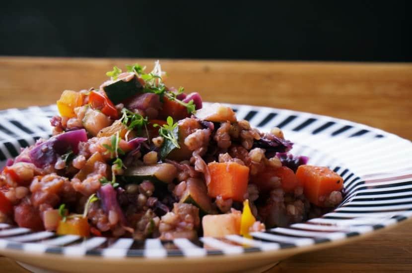 Buchweizen-Pfanne mit Gemüse