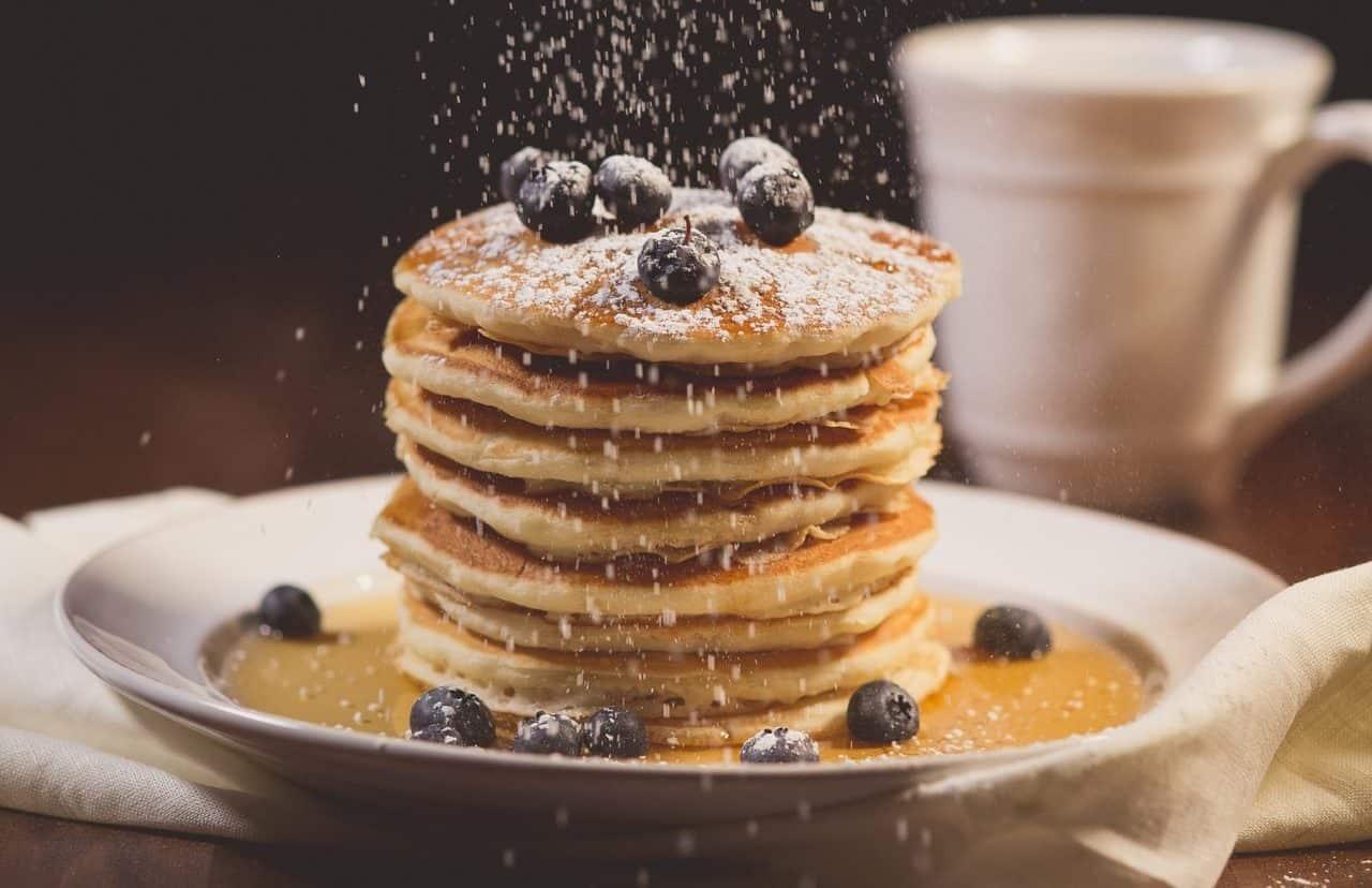 Weihnachtliche Fitness Pancakes