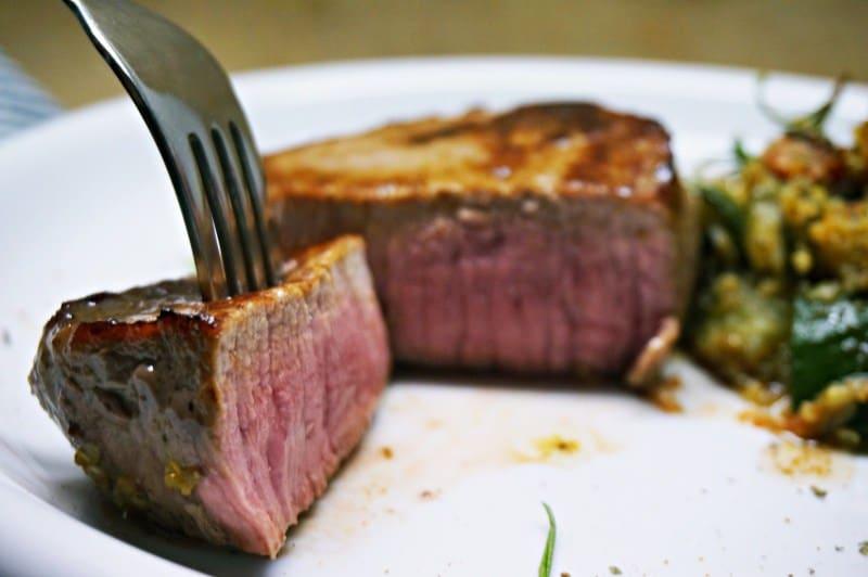 Steak mit Schmorgemüse