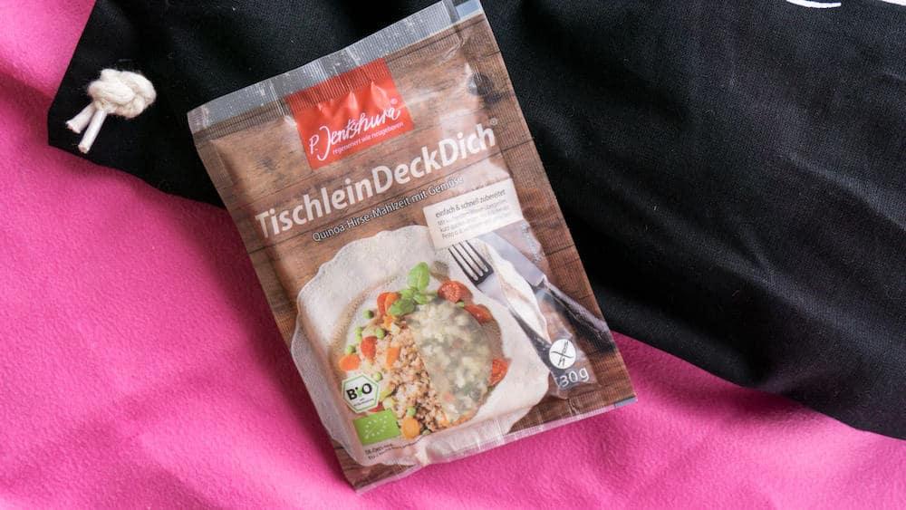 Lust auf ein schnelles, aber dennoch gesundes Mittagessen? Mit dem Tischlein Deck Dich Probierpack stillst du auf gesunde Weise deinen Hunger.